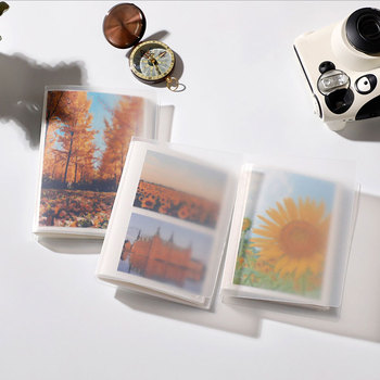 3/5 inches Transparent Photo Album 40/80 Pockets Card Holder Business Card Bag Instant Photo Holder Ticket Collection Card Clip image