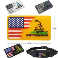 Parche de PVC con bandera de serpiente, Parche de epoxi, pasta militar, brazalete, gancho táctico, Bandera de goma, insignia de gancho para exteriores