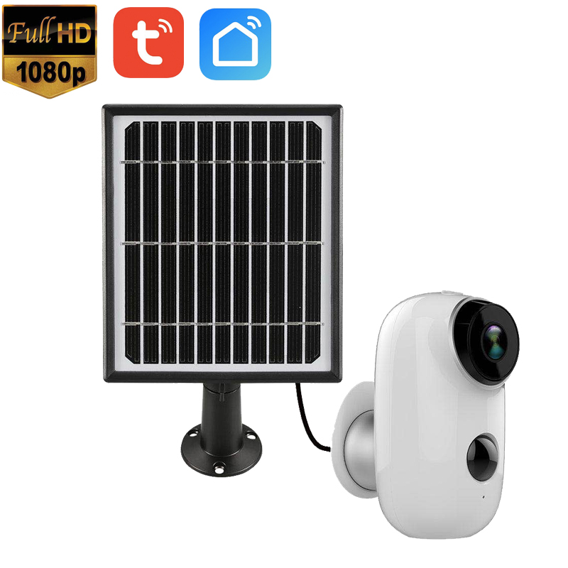 1080P Solar panel Rechargeable Battery Full HD Outdoor Indoor Security WiFi Camera CCTV