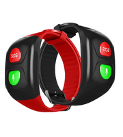 Gps Voice Remind SOS Smart Bracelet Watch NO Screen for Old Man Wristband Ftness Tracker Only Two Botton Elderly SOS GPS Track
