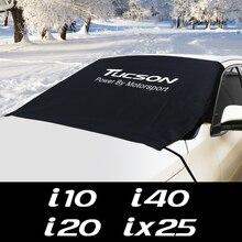 Car Windshield Snow Ice Block Sun Shade Cover For Hyundai CRETA EON EQUUS I10 I20 I40 IONIQ IX25 IX55 KONA Accessories