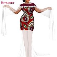 2020 женская одежда Африканский базин богатый круглый вырез