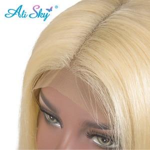 Image 5 - Alisky 613 perruque frontale préplumée miel Blonde dentelle avant perruque cheveux humains Remy brésilien droite pleine dentelle avant perruques de cheveux humains