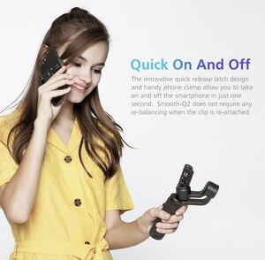 Image 4 - Zhiyun 부드러운 Q2/부드러운 4 3 축 스마트 폰 핸드 헬드 짐벌 안정제 아이폰 11 프로 최대 XS X 8P 삼성 S10 S9 S8 화웨이
