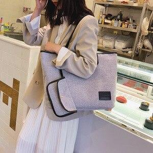 Весенняя новая стильная женская сумка в Корейском стиле, большая сумка, модная простая сумка на плечо, Повседневная сумка, большая сумка