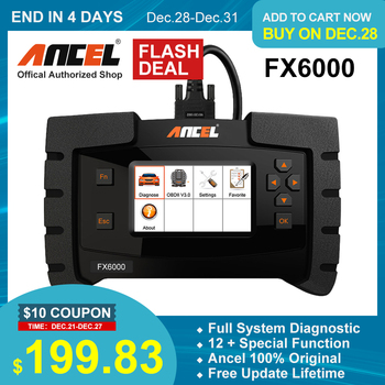 Ancel FX6000 OBD2 Scanner Professional Full System Code Reader Auto Car Diagnostic Tool ABS Oil Reset OBD 2 Automotive Scanner