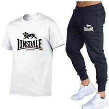 2020 חם הנמכר קיץ חולצה + מכנסיים סט מזדמן ונסדייל מותג כושר Jogger מכנסיים T חולצה היפ הופ אופנה גברים של אימוניותסטים לגברים