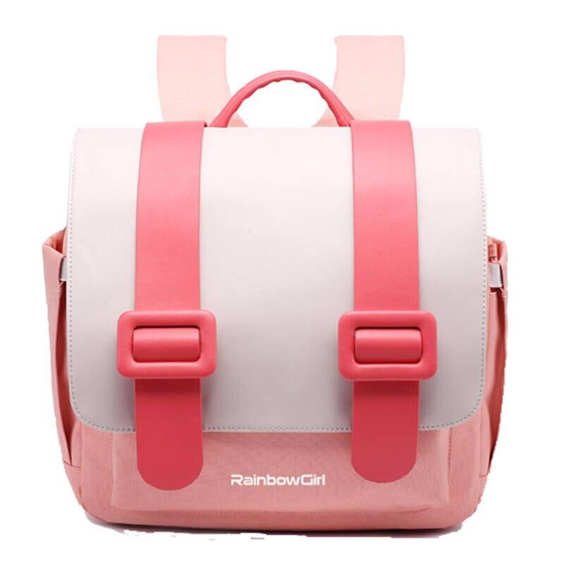 Cute Pink School Bags for Girls Kids Backpack Primary Student Candy Colorful Japan Randoseru Waterproof Orthopedic Backpacks