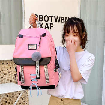 A new backpack for students, usb charging backpacks, Korean version, Korean version couples, large capacity backpacks