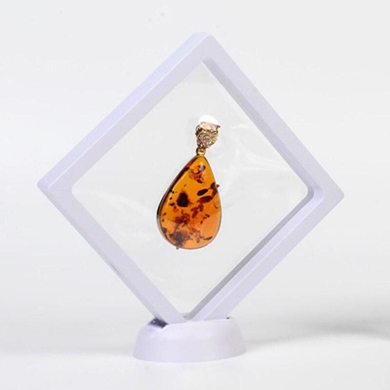 3D flottant bijoux présentoir Transparent collier boîte de rangement cadre ombre boîte 110*110*20mm pour la décoration de la maison