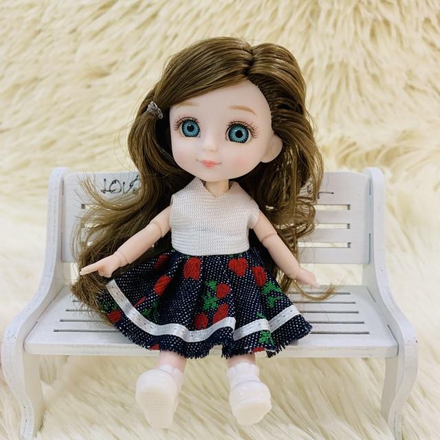 Кукла шарнирная 13 см.