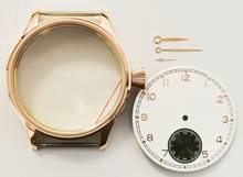 Man's watch part for manual winding movement seagull 9310 eta 6498 case and rose gold dial and hour hand total(China)