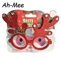 Рождественские украшения игрушки для детей и взрослых Merry для рождественской вечеринки очки с изображениями Санта-Клауса и снеговика с изо...
