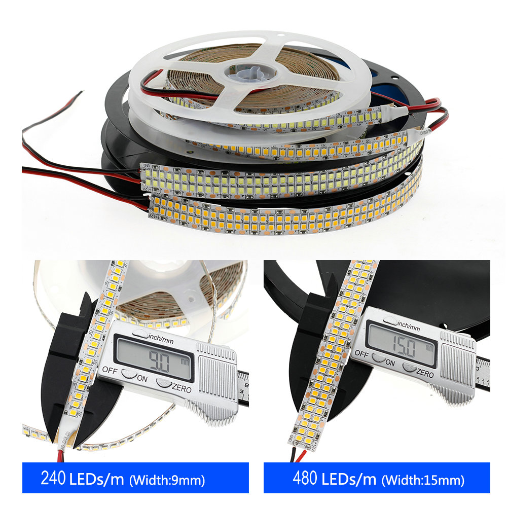 cheapest LED Strip 2835 480LEDs m 240LEDs m DC12V High Brightness 2835 Flexible LED Light Warm White   White 5m lot