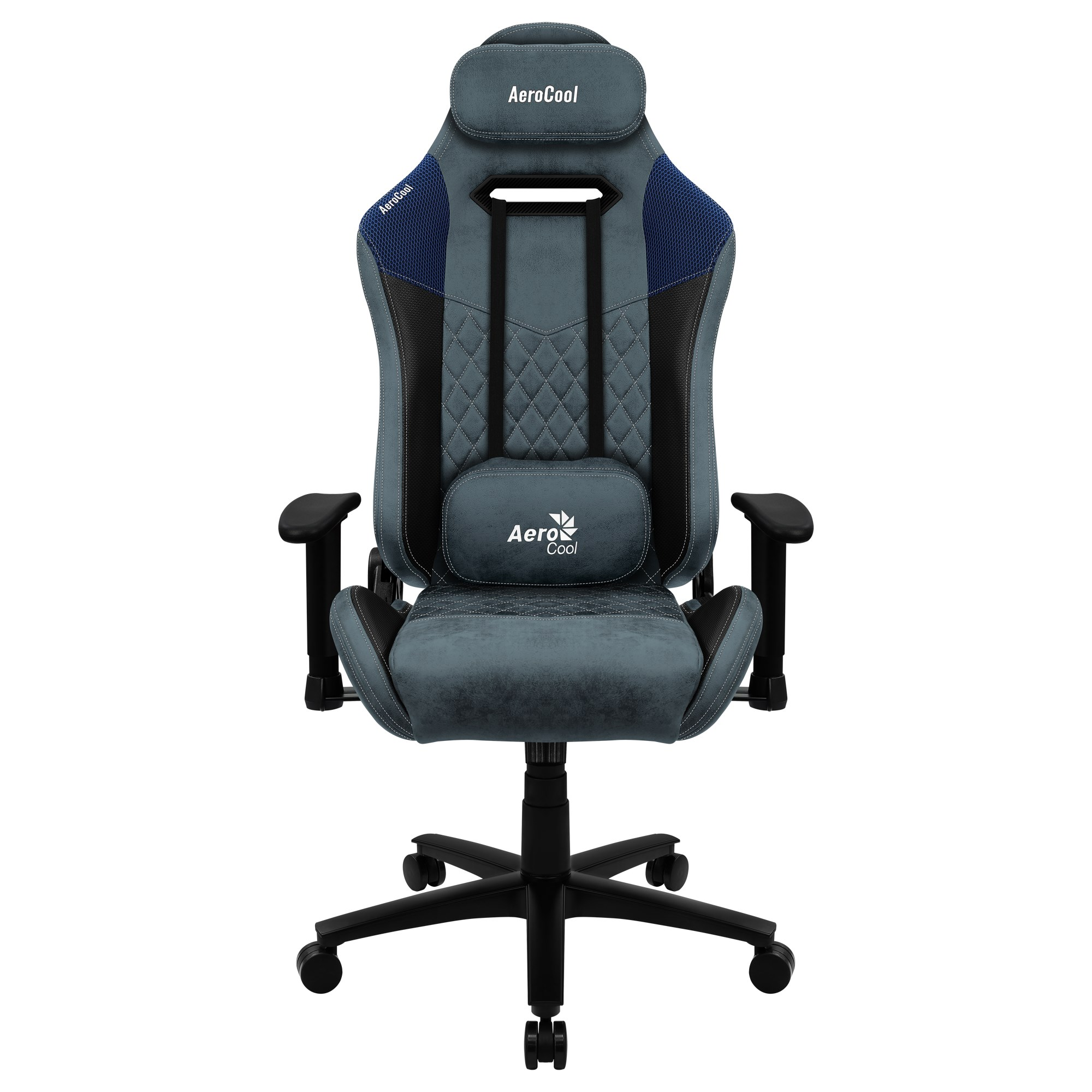 Aerocool DUKE, Gaming Chair, AeroSuede Breathable, Backstop Adjustable, Blue