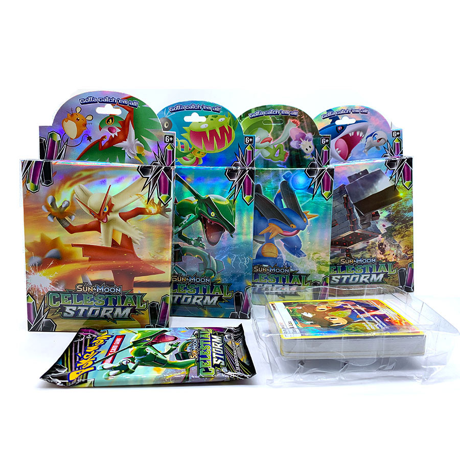 56 Pcs GX MEGA Shining TAKARA TOMY Cards Game Pokemon Battle Carte Trading Cards Game Children Toy