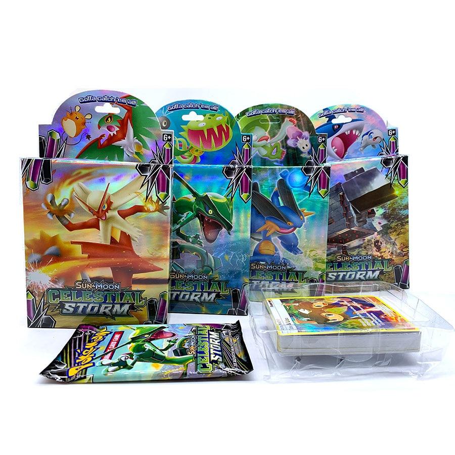 56 Pcs GX MEGA Shining TAKARA TOMY Cards Game Pokemon Battle Carte Trading Cards Game Children Toy