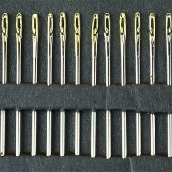 Juego de 12 Uds. De agujas de coser de un segundo, de roscado automático, herramientas domésticas