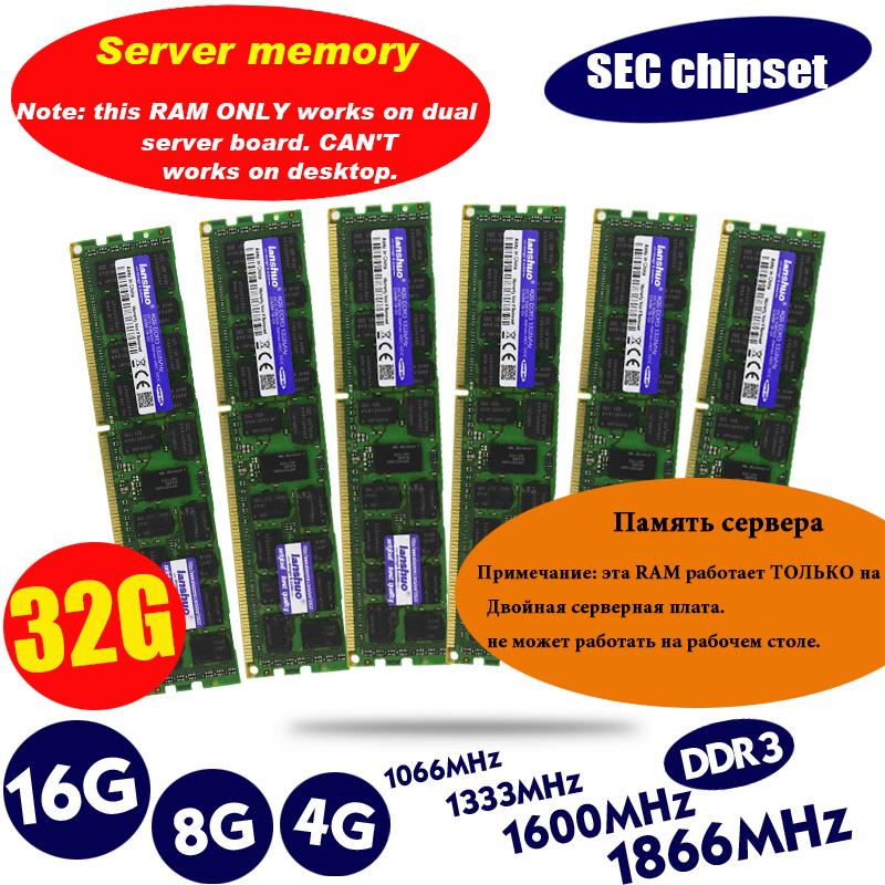 Memory-Ram Server Reg Ecc 1333 1866 1600mhz 8gb Ddr3 Original 16GB 32GB 4GB X58x79