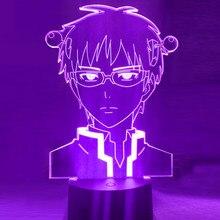 Anime luz a vida desastrosa de saiki k led night light colorido nightlight 3d lâmpada para decoração do quarto natal presente do feriado