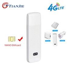 TIANJIE – routeur WiFi universel 3G/4G/LTE, Portable/Mini/sans fil, USB, dongle modem, GSM/LTE, avec emplacement pour carte SIM
