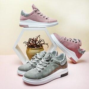 Image 3 - Fujin marca 2020 otoño zapatos de mujer Zapatillas suaves cómodos zapatos casuales moda señora Flats zapatos femeninos para mujeres PU