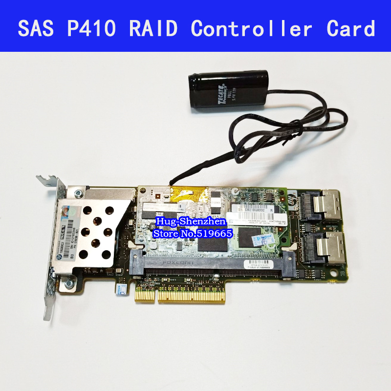 462919-001 013233-001 Array SAS P410 RAID Controller Card 6Gb PCI-E With 512M Battery RAM