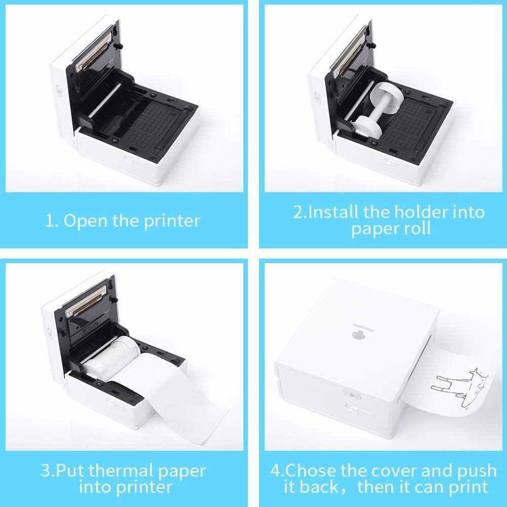3 Gulungan Semi Transparan Stiker Kertas Termal untuk Phomemo-M02/M02S Mini Bluetooth Pocket Photo Printer 3 Gulungan Termal kertas