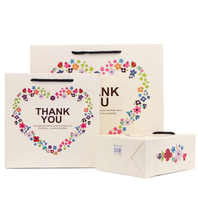 Thanksgiving Gift Bag Korean Handbag Paper Bag Holiday Gift Bag Gift Bag Christmas Gift Bag Packaging Candy Box Accessories