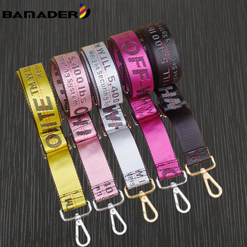 BAMADER Bag Accessories For Woman Strap Replacement Fluorescence Adjustable Handbag Belts Nylon Wide Shoulder New - discount item  15% OFF Bag Parts & Accessories