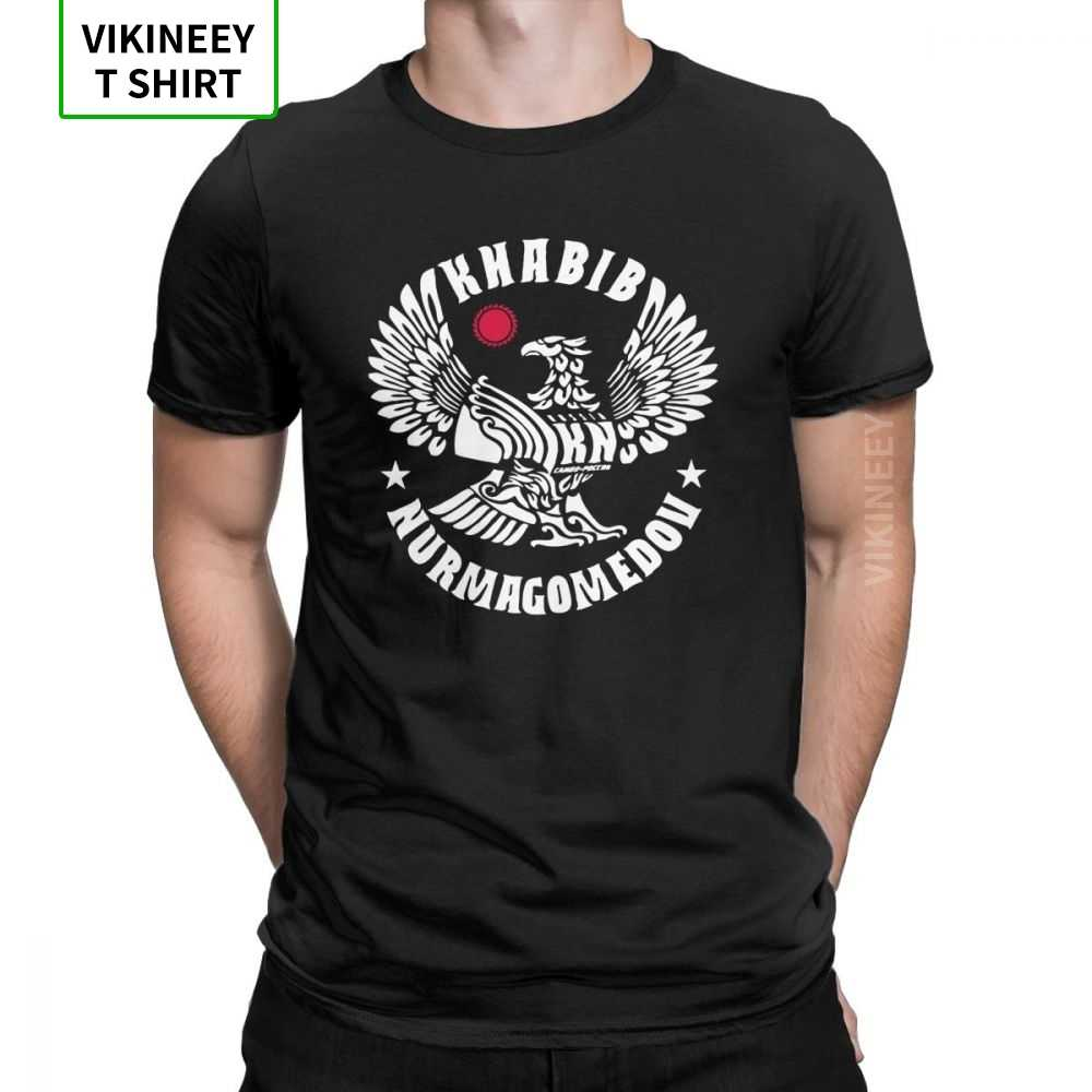 Khabib Nurmagomedov LEGACY ผู้ชาย T เสื้อ Eagle MMA ตลกผ้าฝ้ายแขนสั้น O-Neck เสื้อยืดกราฟิกขนาดเสื้อ