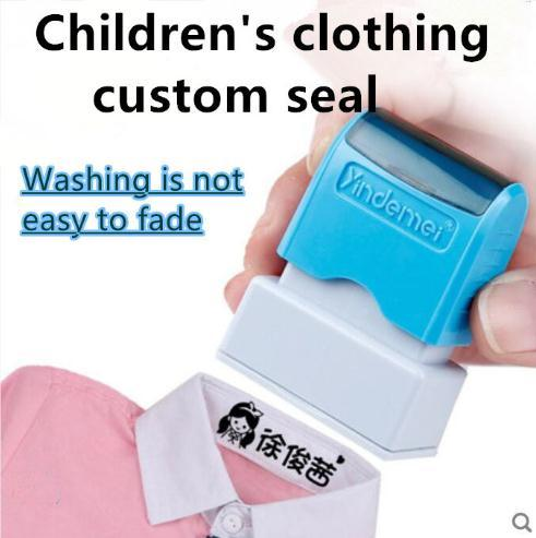 Cute cartoon children's seal baby student clothes chapter custom school uniform name word waterproof wash not faded stamp