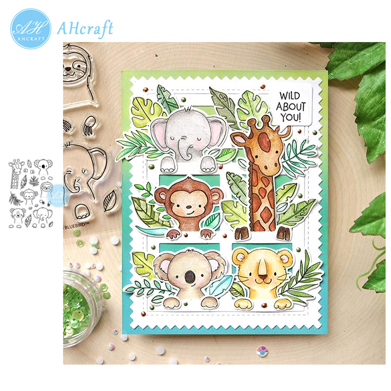 AHcraft Portrait Pals Stamp And Metal Cutting Dies For Photo Album Decorative Embossing Silicone Clear Stamps 2019 Winter