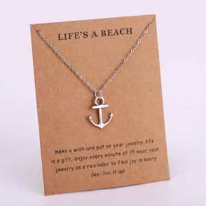 Seahorse Sailing Necklace Sand Dollar Starfish Conch Shell Ocean Waves Sea Turtle Fish Shark Pendants Necklaces Fashion Jewelry(China)