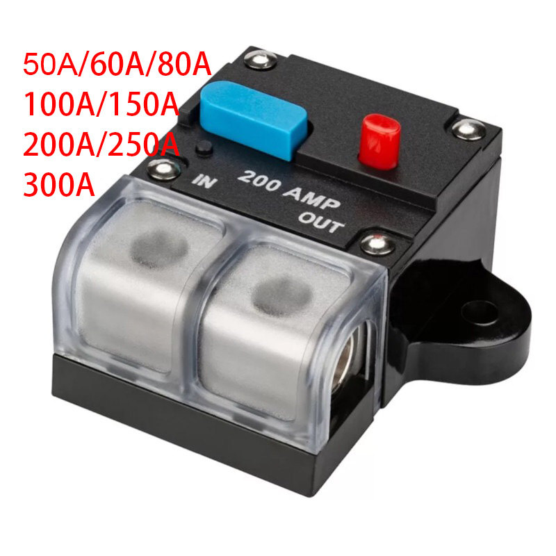 X AUTOHAUX Fuse Holders Inverter Circuit Breaker 20A Red Button Waterproof for Car Vehicle