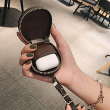Earphone Headset Accessories Leather Case for Apple Airpods Air Pods 1 2 Shell Cover Protective Headphone Box Bag