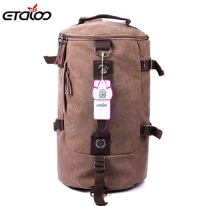Image 5 - Large Capacity Man Travel Bag Mountaineering Backpack Men Bags Canvas Bucket Shoulder Backpack 012