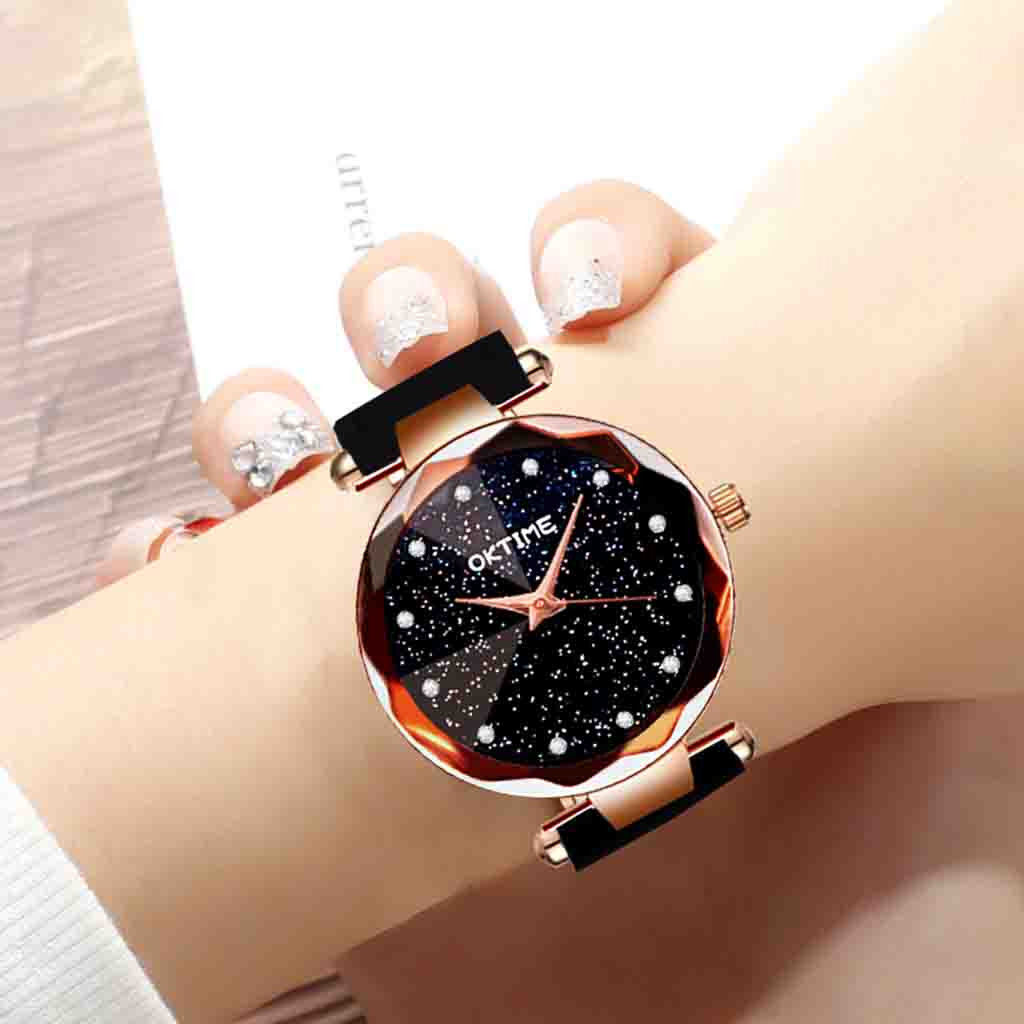 Womens Romantic Starry Sky Faux Leather Analog Quartz Watch relgio feminino Special creative leather ladies watches 2020 Gift 2