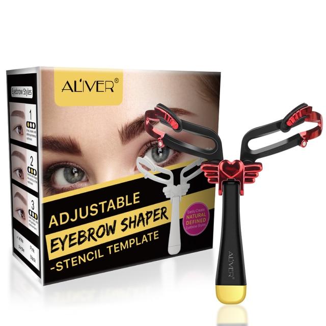 1 Pcs Reusable Adjustable Eyebrow Stencil Eye Brow Makeup Model Template Eyebrow Makeup Shaper Eyebrows Card Styling Tools TSLM1 5