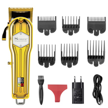 Hair-Trimmer Led-Display Professional Powerful Cordless Adjustable for Men
