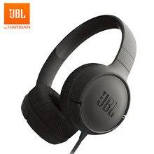 JBL – écouteurs filaires basse Pure T500, casque d'écoute pliable pour sport, jeu de gymnastique, 1 bouton, lumière à distance avec micro, pour iPhone et Android