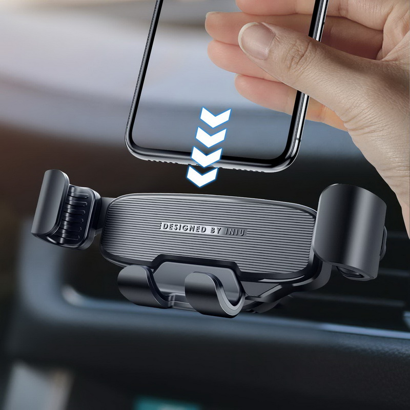 INIU Gravity Car Holder For Phone in Car Air Vent Mount No Magnetic Mobile Cell Phone Holder GPS Stand For iPhone Xiaomi Samsung|Phone Holders & Stands| |  - title=