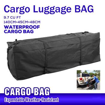 140x45x48cm Waterproof Car Roof Top Bag Roof Top Bag Rack Cargo Carrier Luggage Storage Travel Waterproof SUV Van for Cars image
