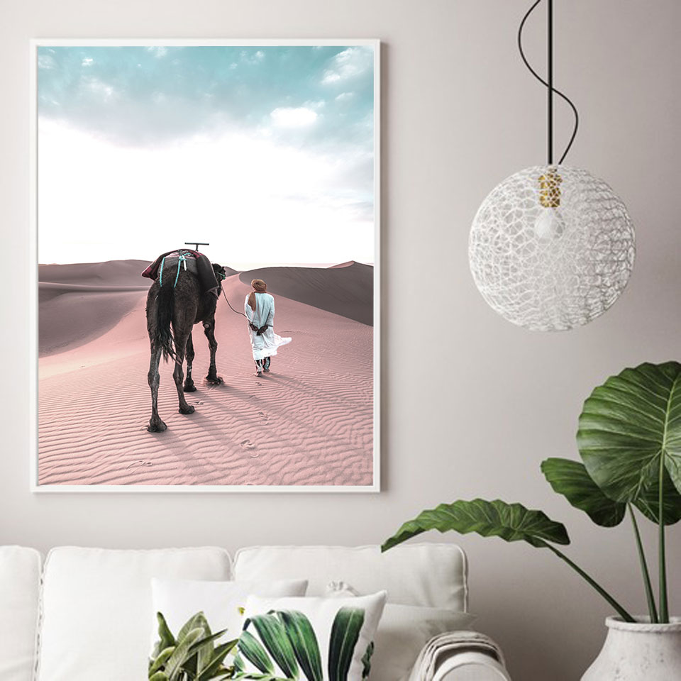 Image 3 - Morocco Posters Prints Sahara Nordic Poster Islam Wall Art Modern