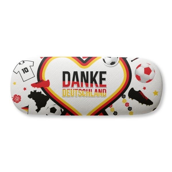 Germany Football Flag Culture Pattern Glasses Case Eyeglasses Clam Shell Holder Storage Box