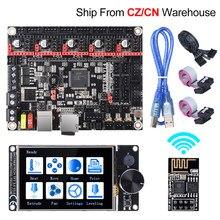 Bigtreetech skr v1.4 turbo + tft35 v3.0 wifi peças de impressora 3d tmc2209 tmc2208 para CR-10 ender3 atualização placa controle kit diy
