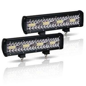Image 2 - Work Light Bar LED 240W Led Bar Car 12V 12inch combo offroad worklight barra led 4x4 car accessories Fog Lights Spot Flood Lamps