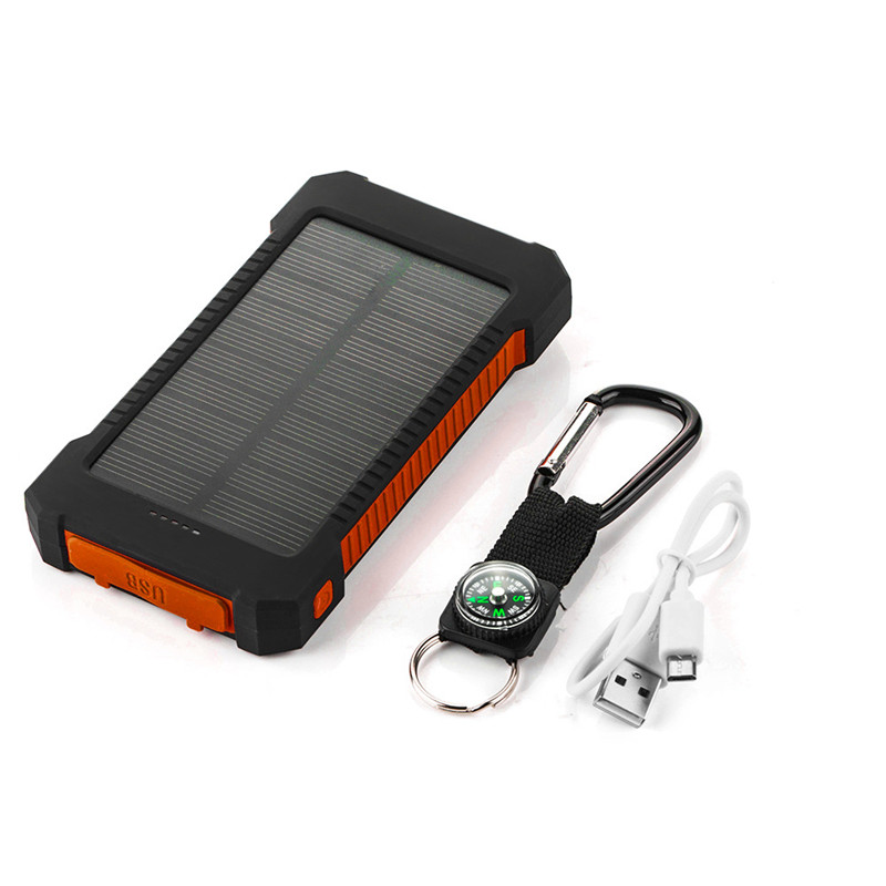 Portable <font><b>Solar</b></font> <font><b>Power</b></font> <font><b>Bank</b></font> <font><b>20000mah</b></font> Waterproof <font><b>External</b></font> <font><b>Battery</b></font> Backup Powerbank 20000 mah Phone <font><b>Battery</b></font> Charger LED Pover <font><b>Bank</b></font> image