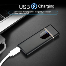 Touch induction screen USB Electronic Charging Lighter Touch Windproof Smock Cig