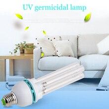 E27 UVC الأشعة فوق البنفسجية أنبوب ضوء لمبة تطهير مصباح الأوزون التعقيم العث أضواء مصباح مبيد للجراثيم لمبة AC220V 15 36 واط الساخن